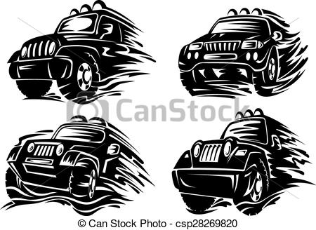 Vector Illustration of Crossover car for extreme sports design.