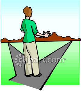 At Crossroads Royalty Free Clipart Picture.