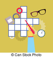 Crossword puzzle Clipart and Stock Illustrations. 7,440.