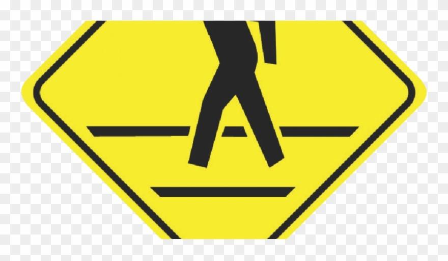 Pedestrian Crosswalk Sign Clipart (#4916318).