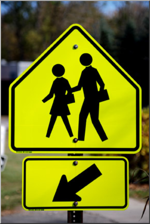 Photo: School Crosswalk Sign 01 LowRes I abcteach.com.