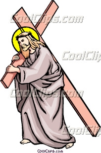 The way of the cross Clip Art.