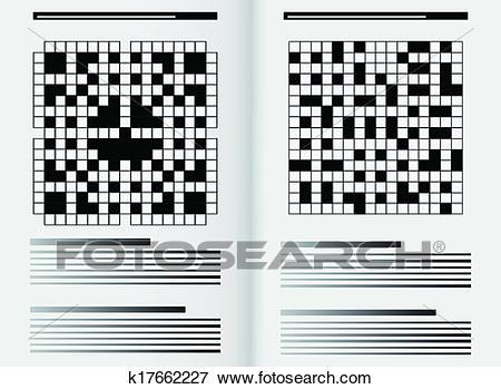 Newspaper crossword Clip Art.