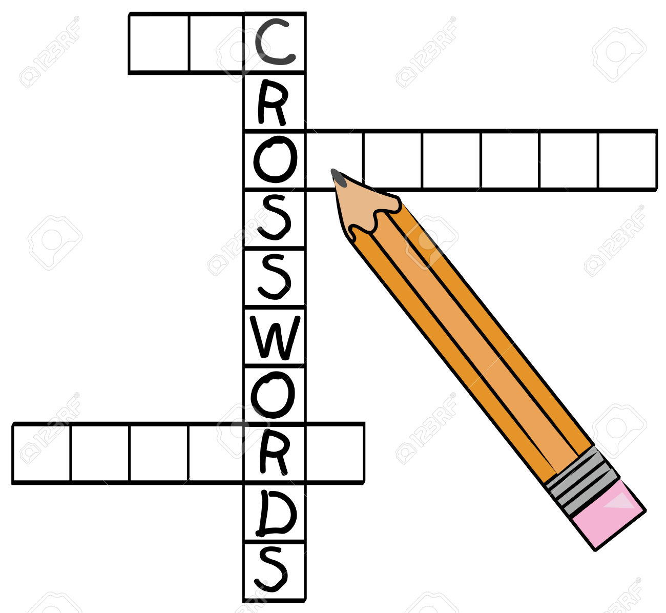 Clip Art Word Games : Crossword clipart clipground