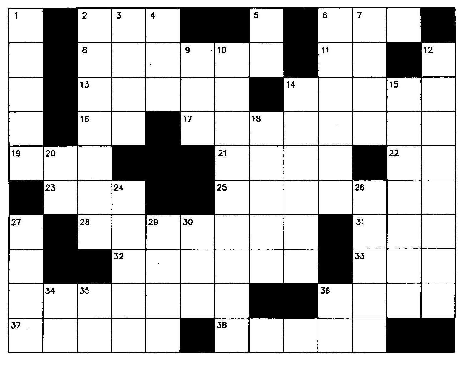 Crossword 20clipart.