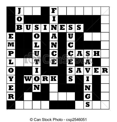 Clipart crossword puzzle.