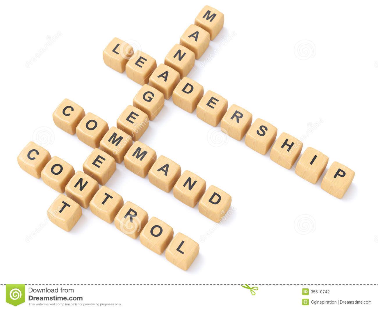 Leadership Crosswords Stock Photography.