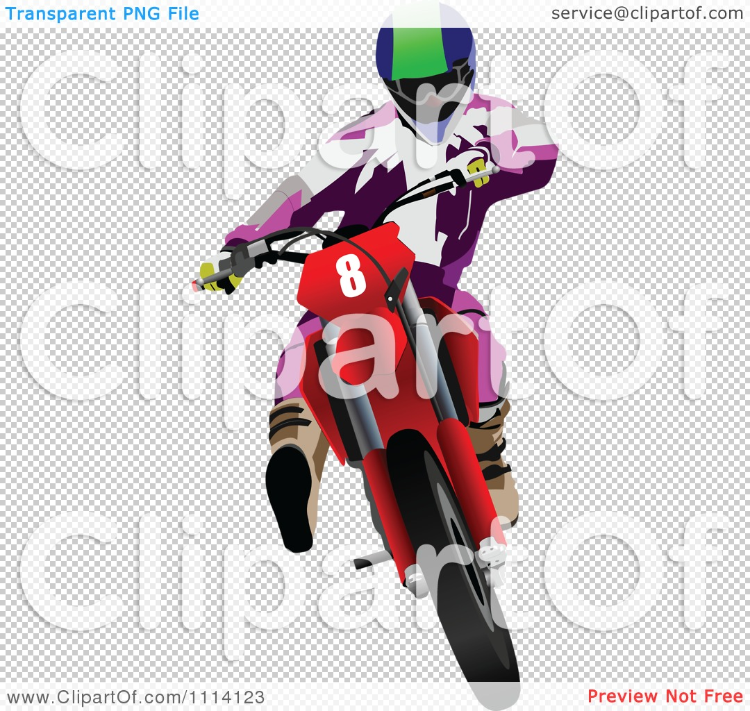 Clipart Green And Yellow Crotch Rocket Motorcycle Motocross Racer.