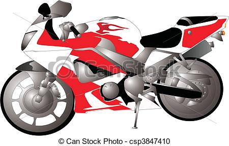 Vector Clipart of Crotch rocket motorcycle..to ride.