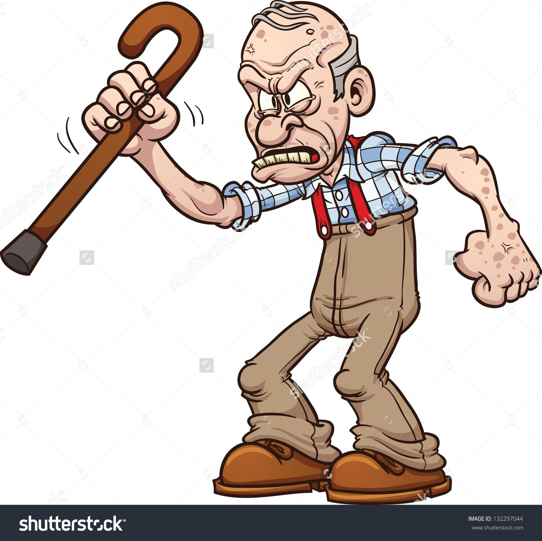 Crotchety Old Man Clipart.