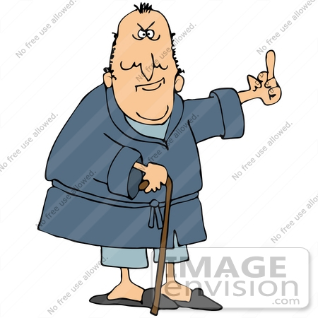 Crotchety old man clipart.