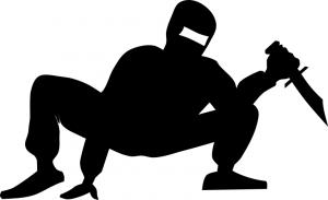 Ninja Crouching Clip Art Download.
