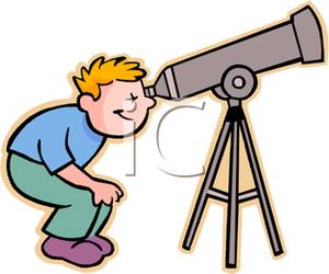 A_boy_crouching_and_looking_through_a_telescope_110416.