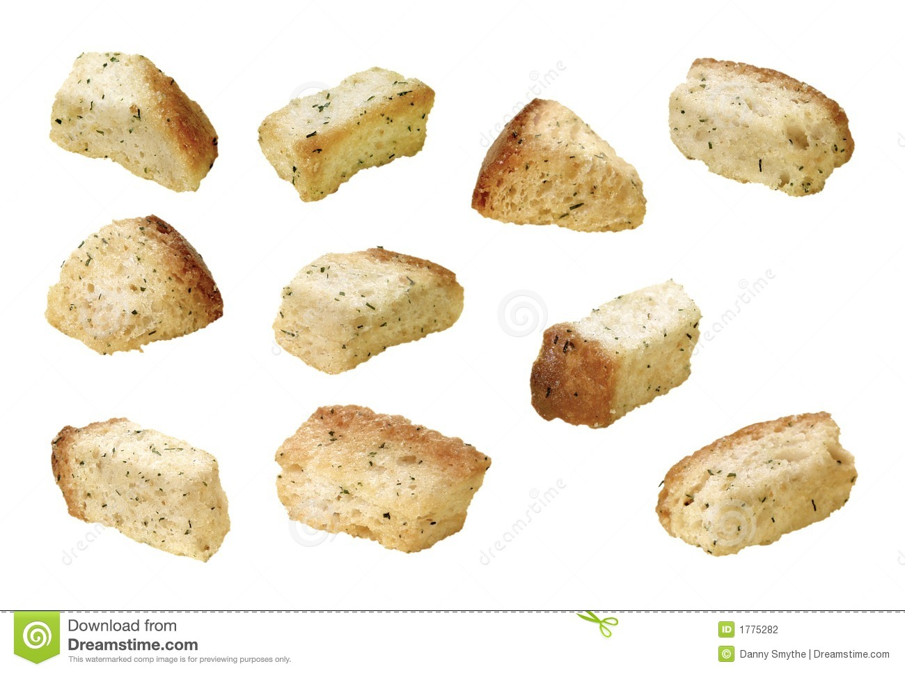 Croutons Stock Photography.