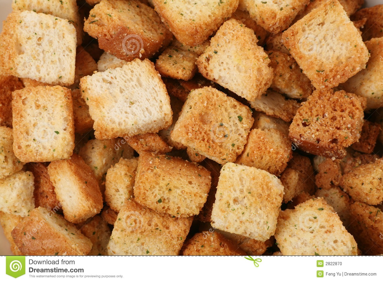 Croutons Stock Photo.