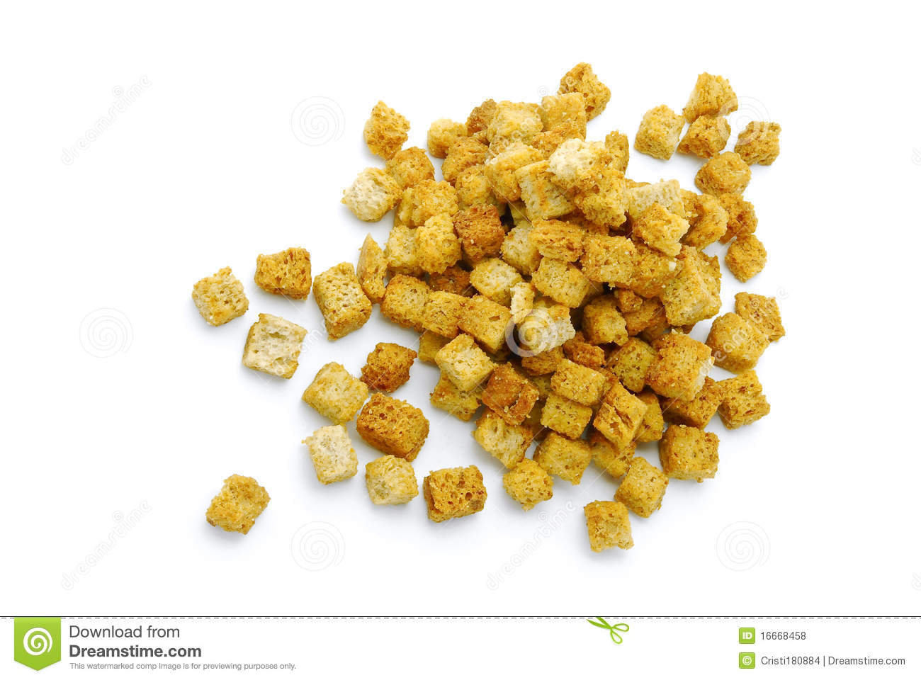 Croutons Royalty Free Stock Photos.