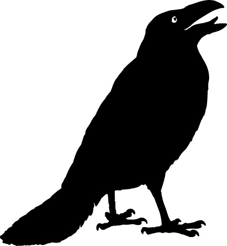 Crow Clip Art Black And White.