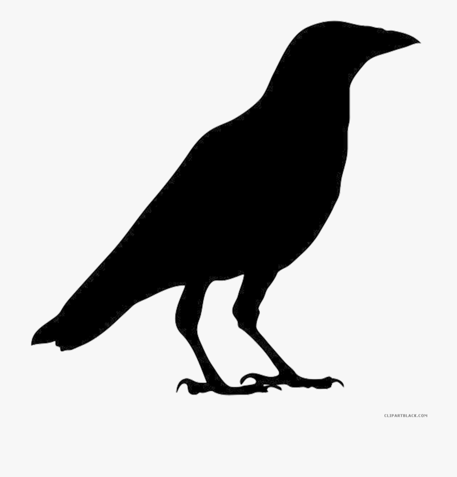 Crow Clipart Silhouette.