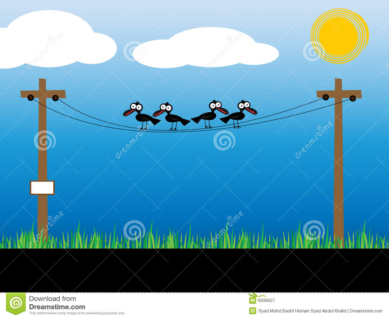 Crow Electric Wire Stock Photos, Images, & Pictures.