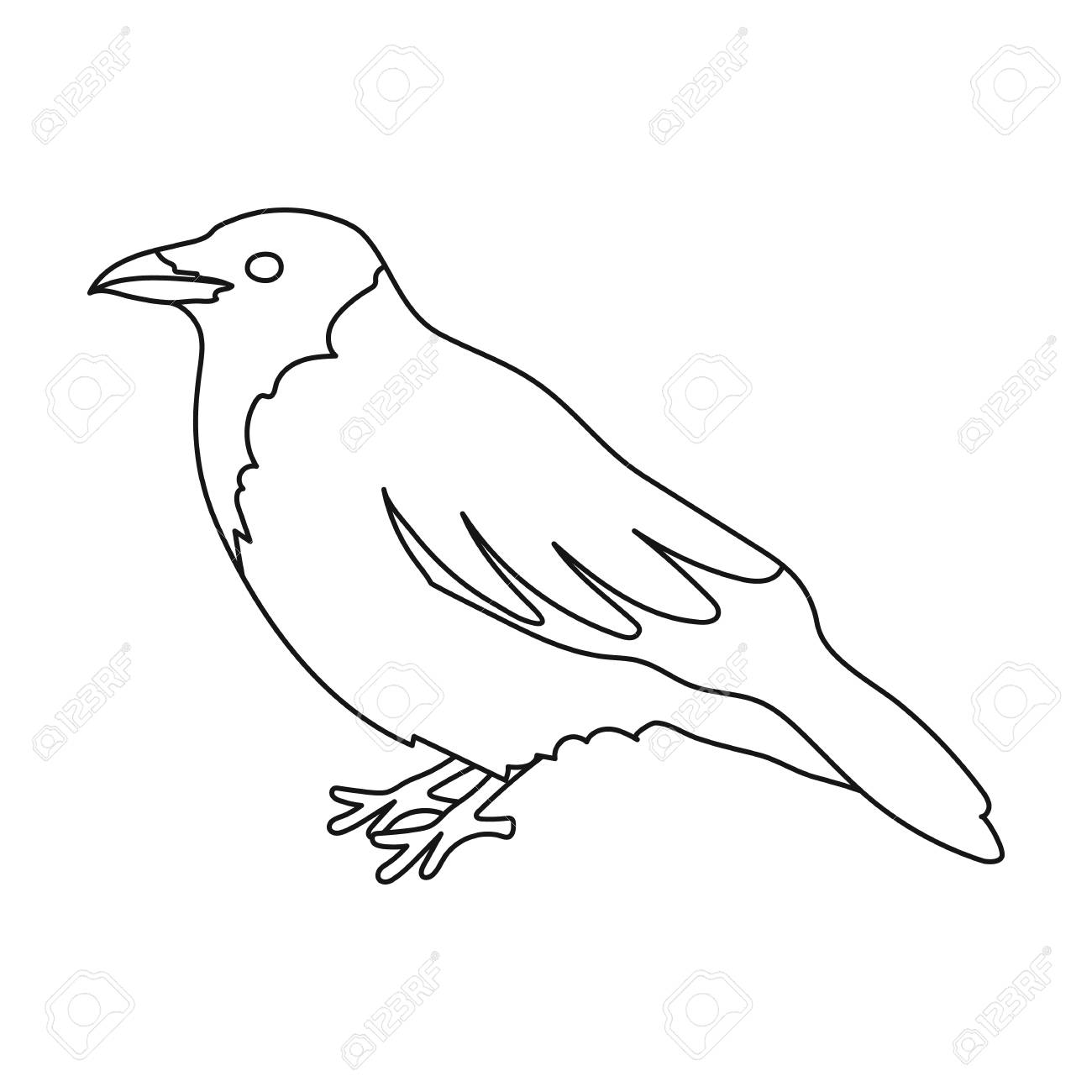 Crow Clipart Outline.