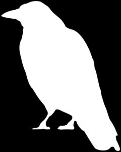 Crow Outline clip art.