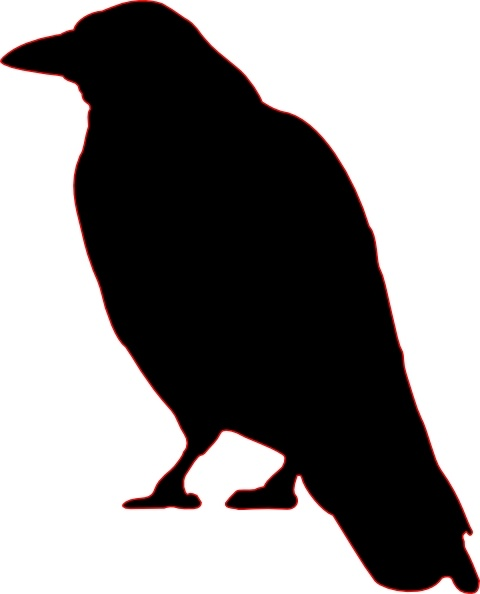 Crow Silhouette clip art Free vector in Open office drawing.