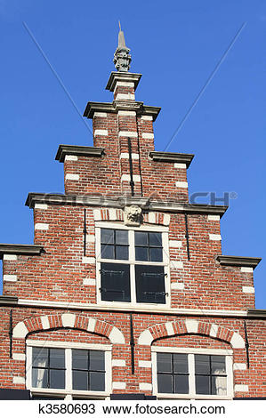 Stock Photo of traditional dutch crow stepped gable k3580693.