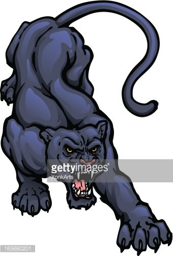 Panther Crouch premium clipart.