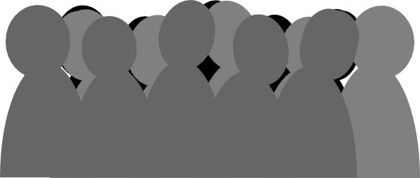 Animated crowd clipart.