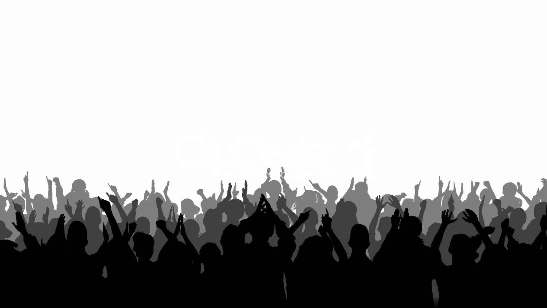 Concert crowd clipart.