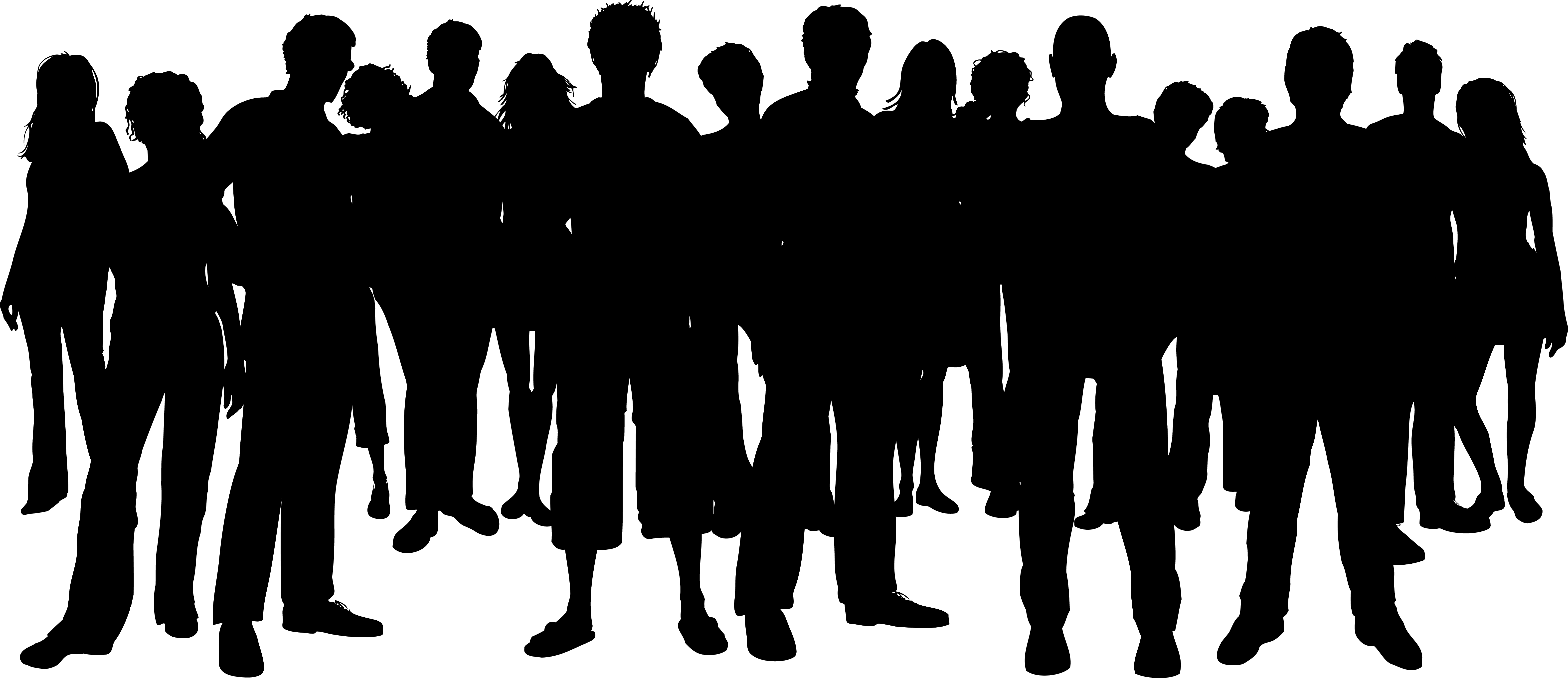 Free Images Black And White People Crowd Statue: Poeple Clipart