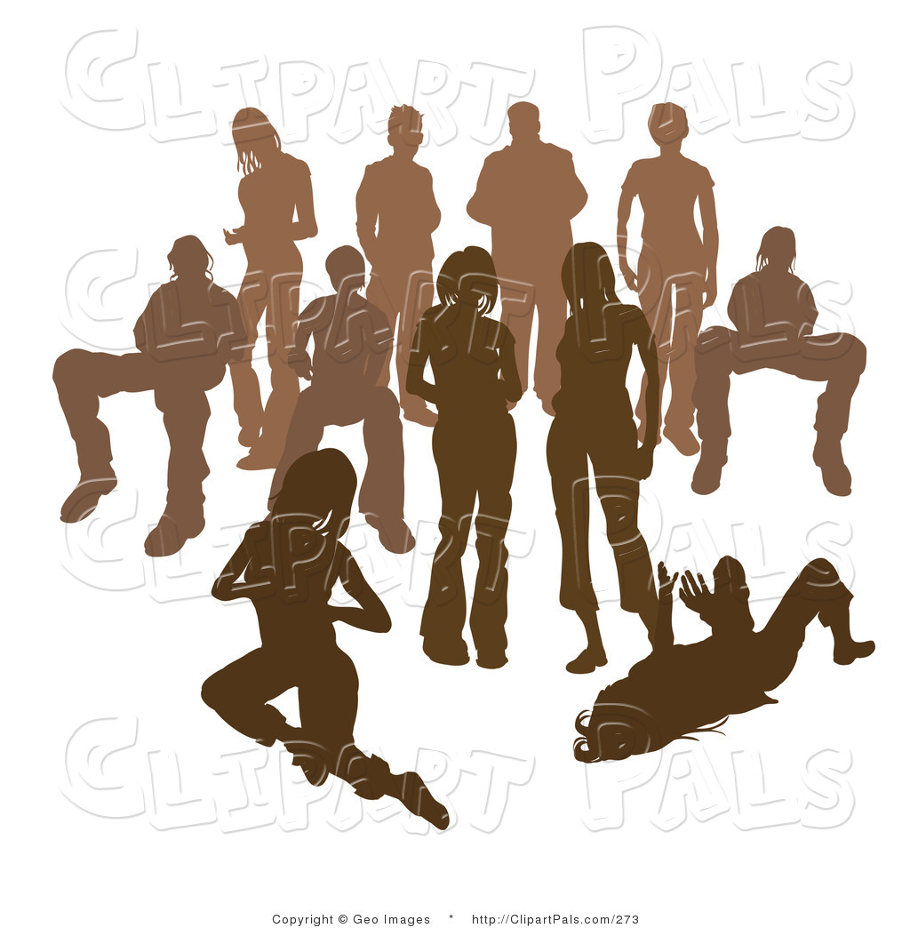Crowd Of People Clipart.