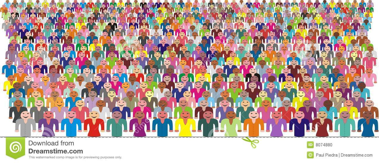 Crowd of people clipart free.