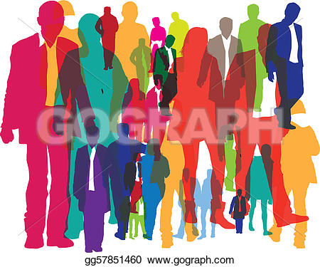 Crowded People Clipart.