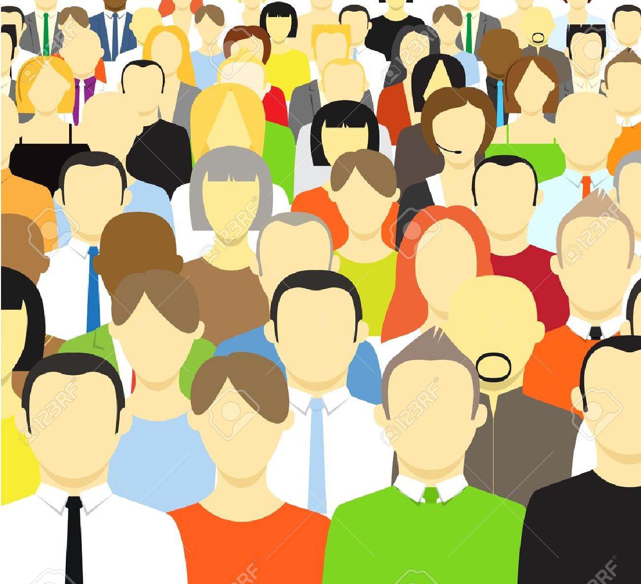 Free Clipart Crowd Of People.