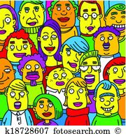 Crowded Clipart and Illustration. 21,062 crowded clip art vector.