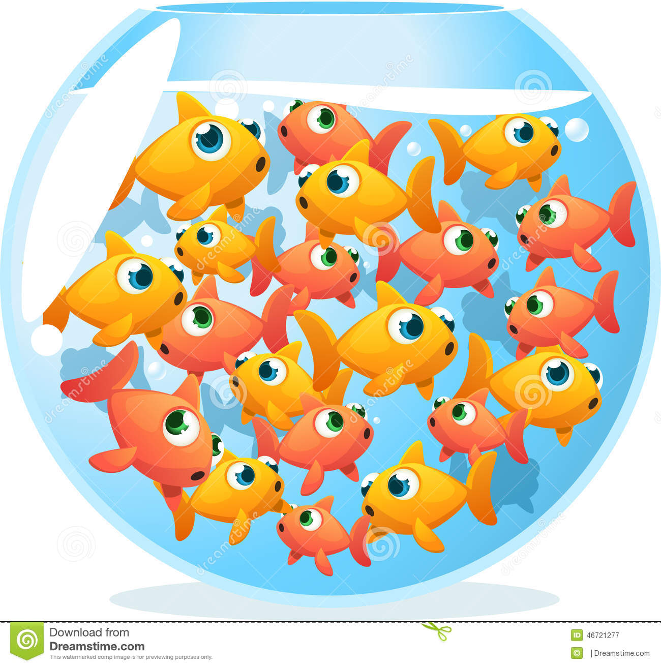 Crowded Fish Stock Photography.