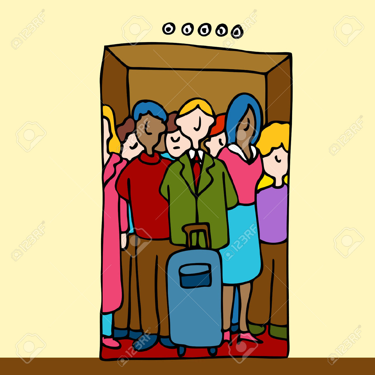 Crowded room clipart.