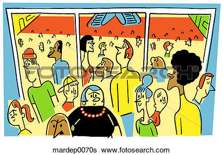 Stock Illustration of Crowded Shopping Mall mardep0070s.