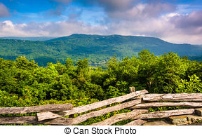 Stock Image of beautiful aerial landscape views from crowders.