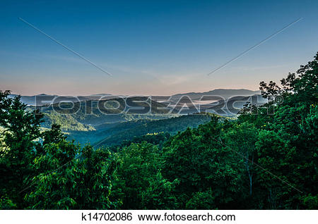 Stock Images of beautiful scenery from crowders mountain in north.