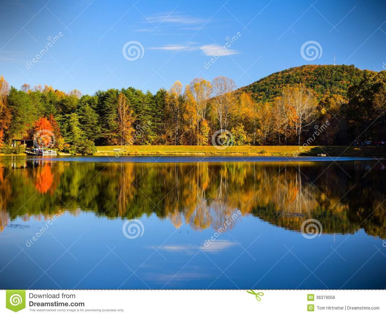 Beautiful Scenery From Crowders Mountain Stock Image.