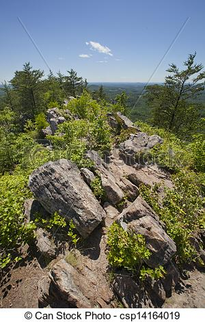 Stock Photography of Kings Mountain Pinnacle at Crowders Mountain.