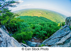 Picture of beautiful aerial landscape views from crowders mountain.