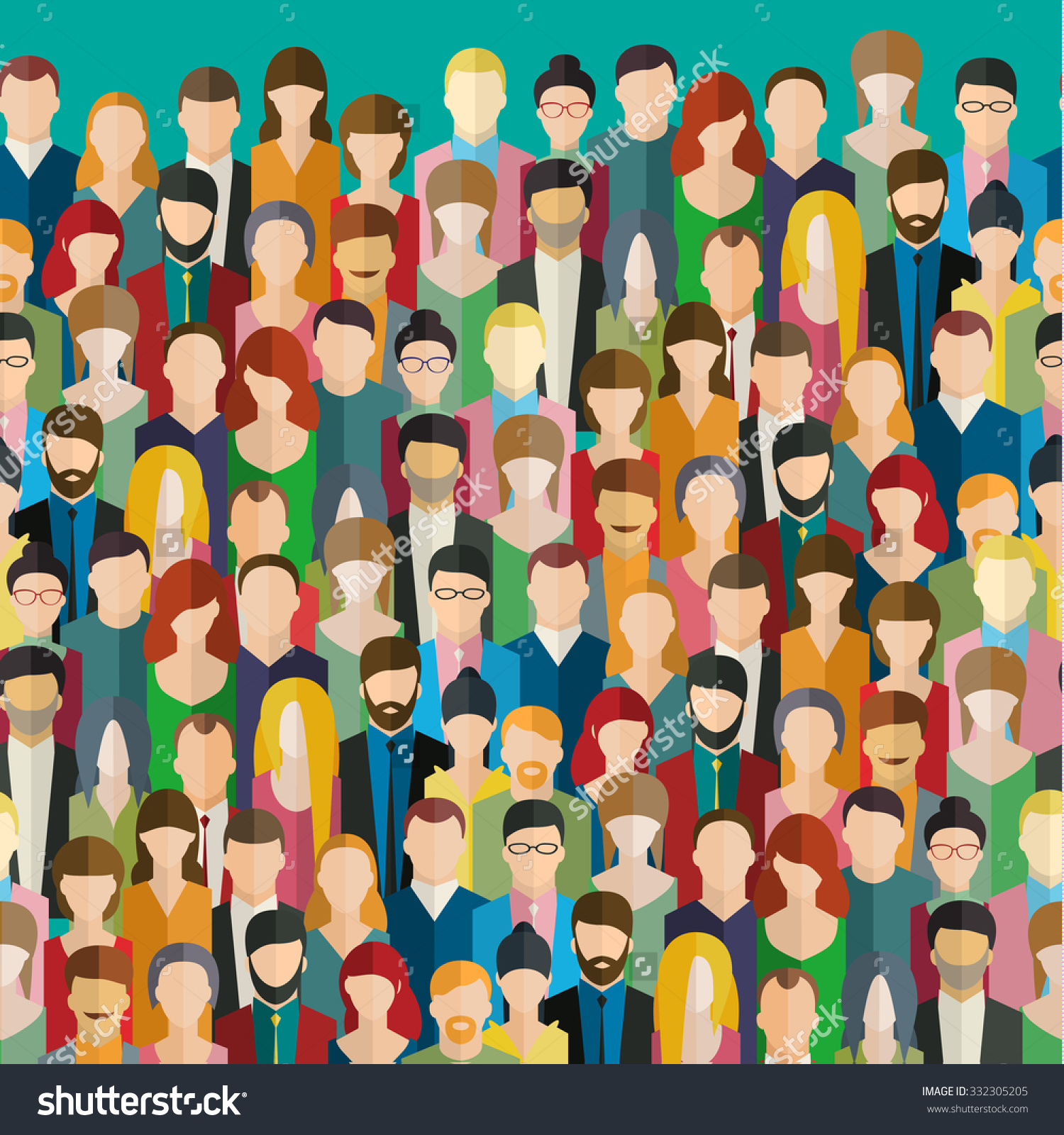 Free clip of crowds we the people clipart.