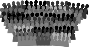Crowd Black And White Clip Art at Clker.com.