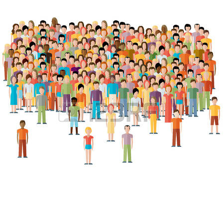 55,216 Crowd Of People Cliparts, Stock Vector And Royalty Free.