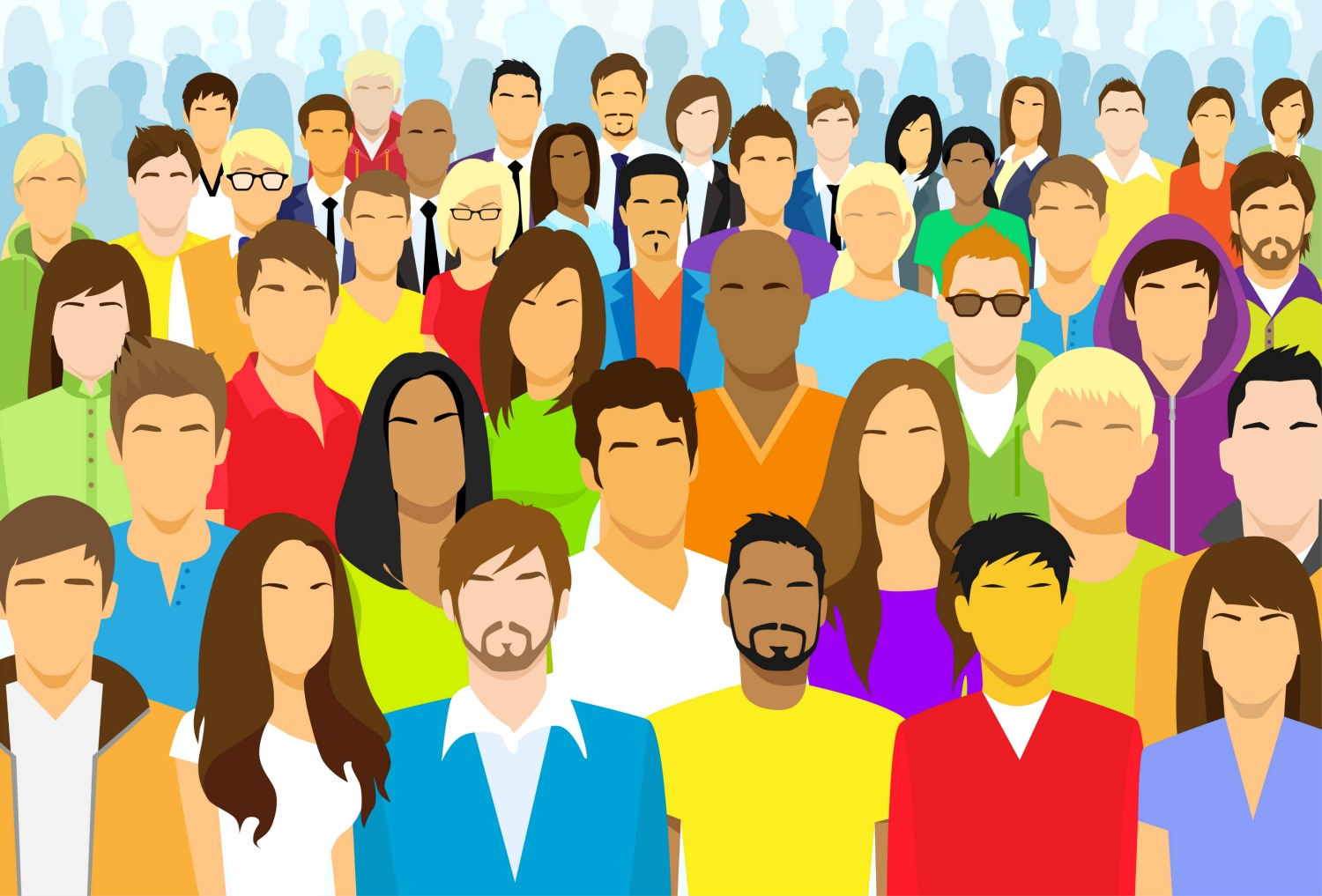 Crowd clipart crowded person, Crowd crowded person.
