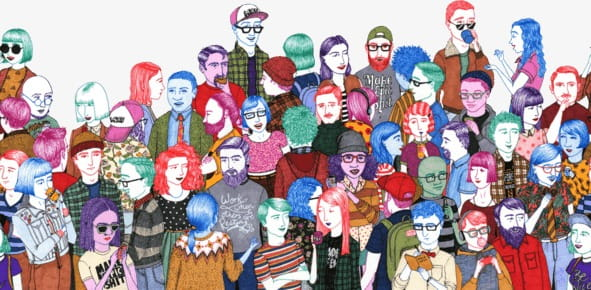 Crowded PNG clipart.