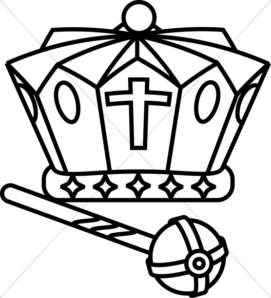 Black and White Crown and Scepter.